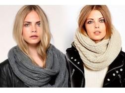 Вяжем новые модели шарфов-снудов для женщин спицами