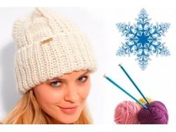 Простые схемы вязания женской зимней шапки спицами