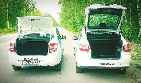 багажник седана и лифтбека