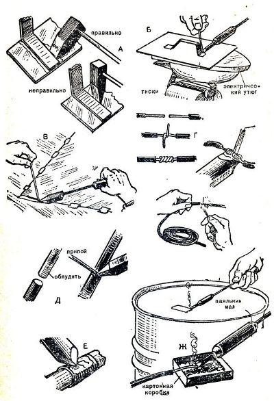 схема пайки серебра паяльником