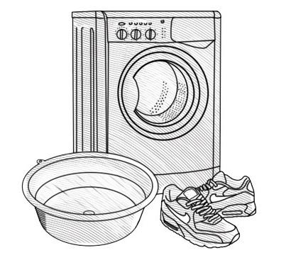 схема стиралки с кроссовками