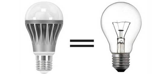 сходства с обычными лампами