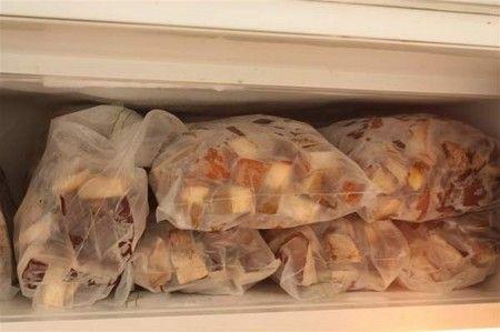 в заморозку в пакете