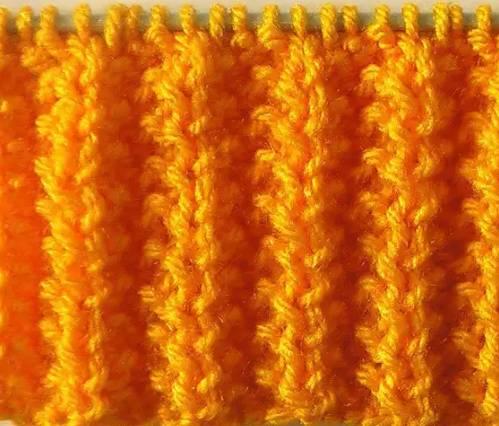вязание змейкой