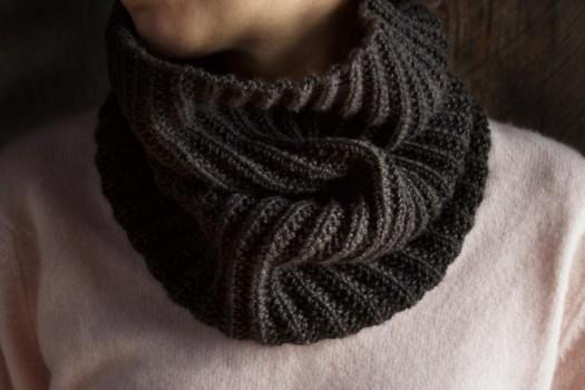 шарф французской резинкой