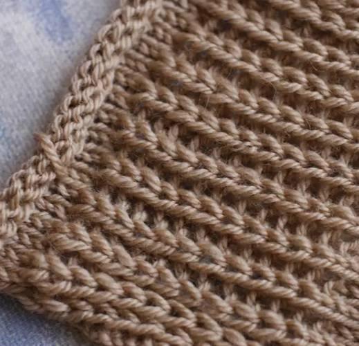 хитрости вязания английской резинки