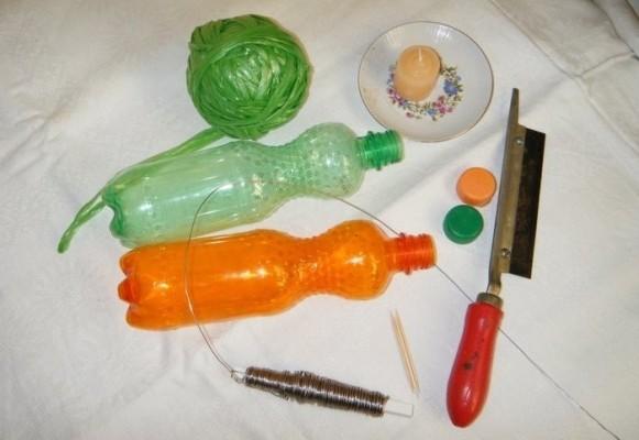 инструменты и бутылка
