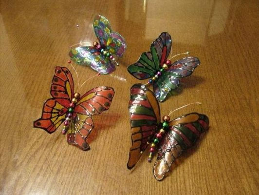 винтажная бабочка