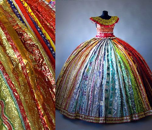 платье из фантиков