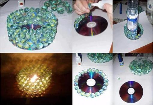 светильник из шариков и диска
