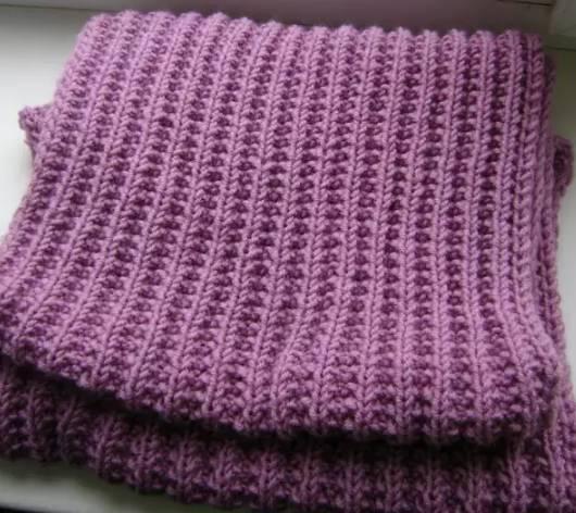 шарф польской резинкой