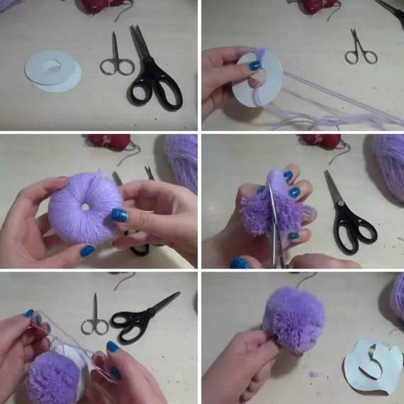 Как сделать помпон из пряжи или ниток