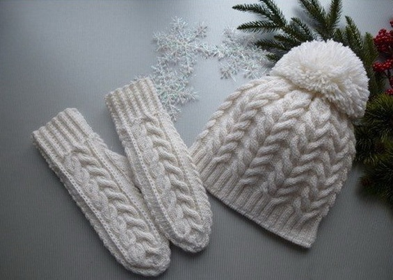 вязание простой двойной косички