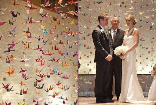 журавлики на свадьбе