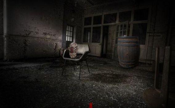 голова на стуле