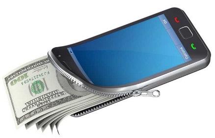 деньги из смартфона