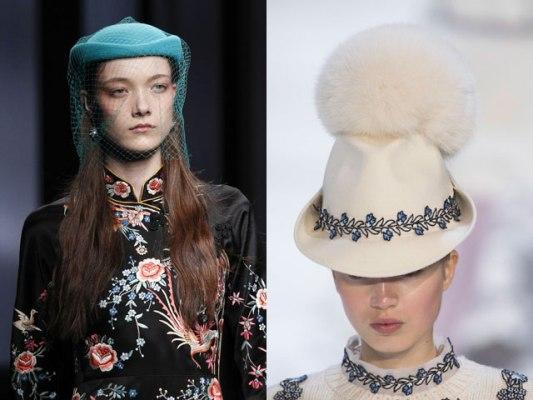 шляпки с помпонами