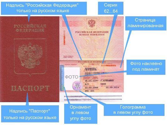 защита загранпаспорта старого образца
