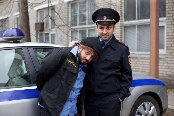 с полицейским